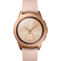 SAMSUNG  Galaxy Watch 42 mm LTE Smartwatch Edelstahl, Silikon, S, L, Roségold