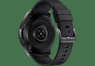 SAMSUNG Galaxy Watch 42 mm LTE Smartwatch Edelstahl Silikon, S, L, Schwarz
