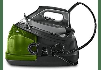 Centro de planchado - Rowenta Perfect Steam Pro DG8626F0, 120 g/min, Golpe 450 g/min, Gris y verde