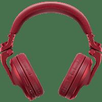 PIONEER HDJ-X5BT, Over-ear Kopfhörer Bluetooth Rot