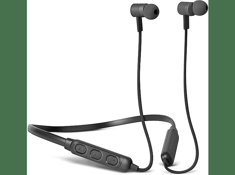 FRESH N REBEL Band-It BT In-Ear Kopfhörer, Concrete, In-ear Kopfhörer Bluetooth Schwarz
