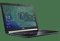 ACER Aspire 7 (A717-71G-56SC), Gaming Notebook mit 17.3 Zoll Display, Core™ i5 Prozessor, 8 GB RAM, 512 GB SSD, GeForce® GTX 1050, Schwarz