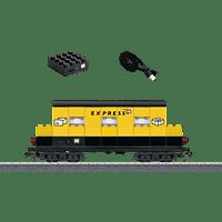 "MÄRKLIN Beleuchteter Bausteinwagen ""Postexpress"" Güterwagen, Mehrfarbig"