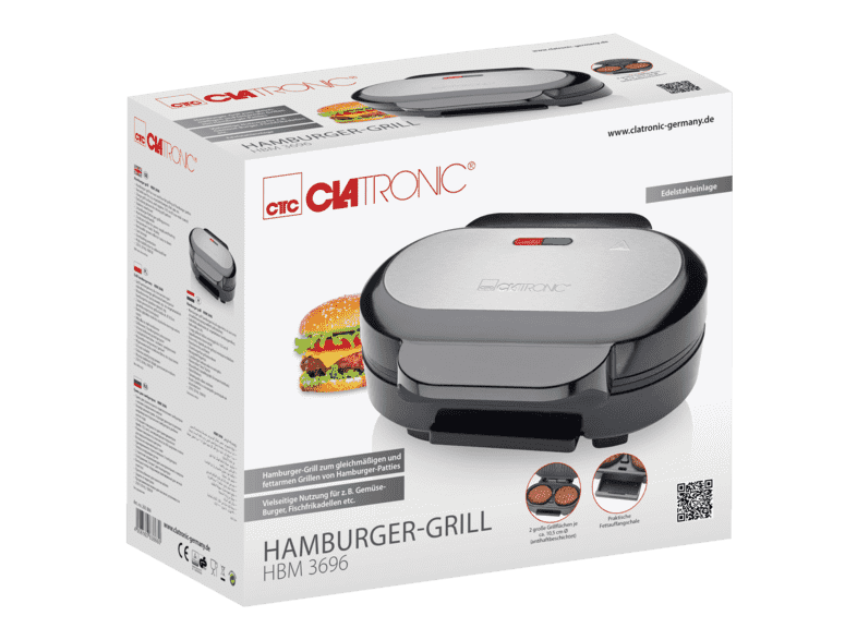 Clatronic  HBM 3696 Hamburger Grill
