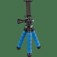 HAMA Flex Dreibein Mini-Stativ, Blau, Höhe offen bis 140 mm