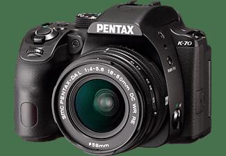 PENTAX K-70 + DAL 18-55 WR Spiegelreflexkamera, Full HD, HD, 18-55 mm Objektiv (WR), WLAN, Schwarz
