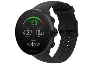 Reloj deportivo - Polar Vantage M, Negro, 1.2'', GPS, GLONASS, Frecuencia cardíaca, WR30, M/L
