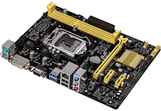 Placa Base - Asus H81M-K Socket 1150, Micro ATX / H81, 2x DDR3, PC-1600, USB 3.0, SATA3, UEFI Bios