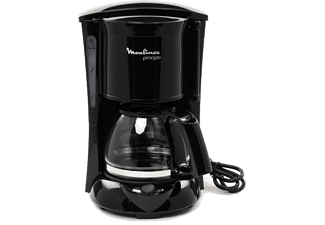 Cafetera de goteo - Moulinex FG1528 Principio Potencia 600W, Capacidad 6 tazas, Sistema antigoteo