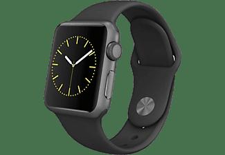 Apple Watch Sport, caja 38 mm, aluminio en gris espacial y correa deportiva negra