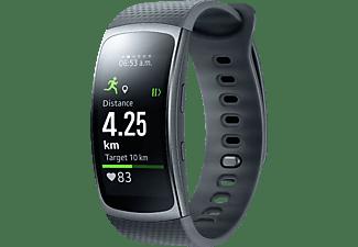 Reloj deportivo - Samsung GEAR FIT 2 Negro, GPS, Bluetooth, WiFi, talla L