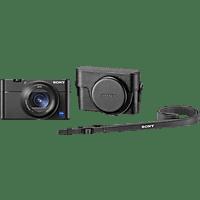 SONY Cyber-shot DSC-RX100 VA Zeiss KIT Digitalkamera Schwarz, 20.1 Megapixel, 2.9x opt. Zoom, Xtra Fine/TFT-LCD, WLAN