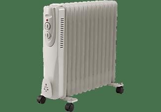 Radiador de aceite - OK ORO 4411 ES, 13 elementos, 3 potencias, 2500W, Termostato ajustable, Blanco