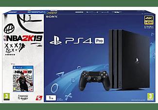 Consola - Sony - PS4 Pro Negra, 1TB, DualShock + NBA 2k19