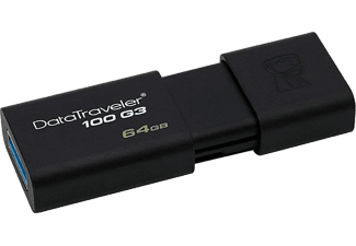 KINGSTON DataTraveler 100 G3 64GB USB 3.0 fekete pendrive