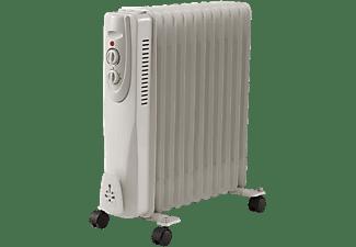 Radiador de aceite - OK ORO 3311 ES, 11 elementos, 3 potencias, 2500W, Termostato ajustable, Blanco