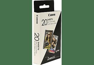 Papel Fotográfico - Canon Zink Zp-2030, 20 unidades, compatible con Canon Zoemini PV-123