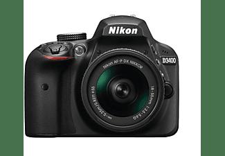 Cámara Réflex - Nikon D3400 + Objetivo AFP DX 18-55 mm F3.5-5.6G + Objetivo AF 55/200 VRII