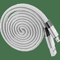 CELLULAR LINE YO YO Automatic Rewind, USB Kabel, 1 m, Grau