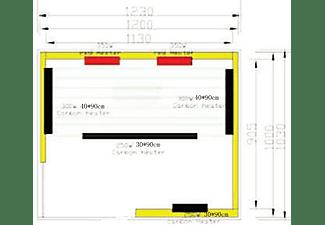 SANOTECHNIK Infrarotkabine Trendy H30380 für 2 Personen mit 2 Rotlichtstrahlern, 4 Carbon Heizplatten mit 1800 W