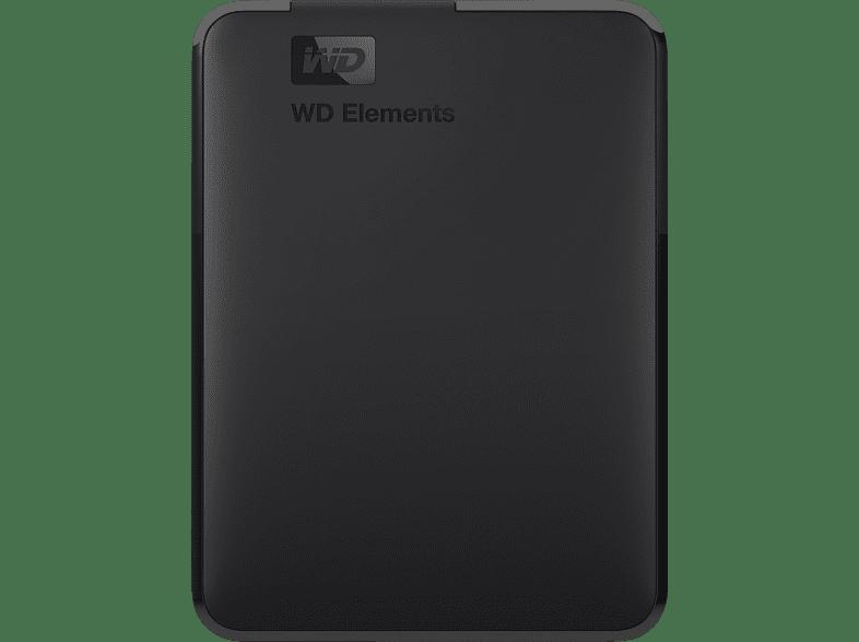 WD Elements Festplatte, 2 TB HDD, 2,5 Zoll, extern, Schwarz