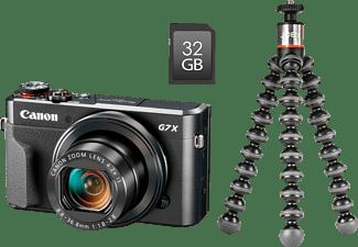 CANON PowerShot G7 X Mark II  Vlogger Kit Digitalkamera Schwarz, 4.2x opt. Zoom, sRGB Farbwiedergabe Touchscreen-LCD, WLAN