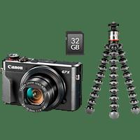 CANON PowerShot G7 X Mark II  Vlogger Kit Digitalkamera Schwarz, 20.1 Megapixel, 4.2x opt. Zoom, sRGB Farbwiedergabe Touchscreen-LCD, WLAN