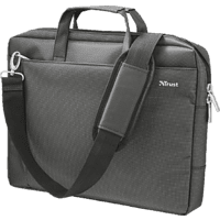 TRUST Veni Notebooktasche, Umhängetasche, 16 Zoll, Schwarz