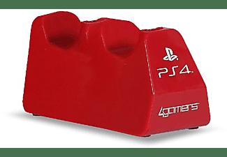 REACONDICIONADO Base de carga - 4gamers Play & Charge, Para  PS4, Rojo