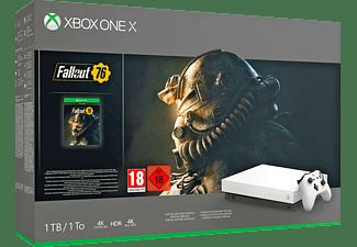 MICROSOFT Xbox One X 1TB Konsole –  Robot White Special Edition Fallout 76 Bundle