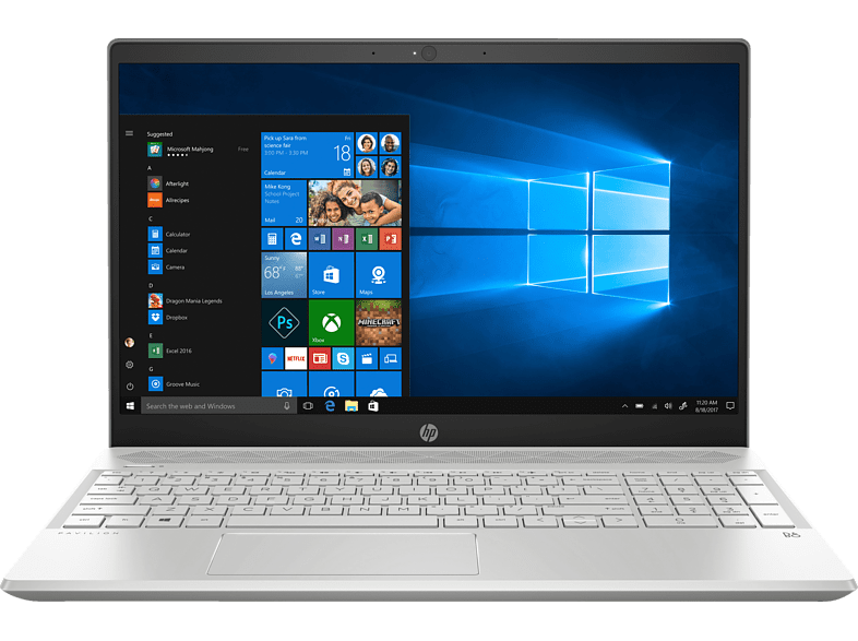HP Pavilion 15-cs1313ng, Notebook mit 15.6 Zoll Display, Core™ i5 Prozessor, 16 GB RAM, 1 TB HDD, 256 GB SSD, Intel® UHD-Grafik 620, Silber