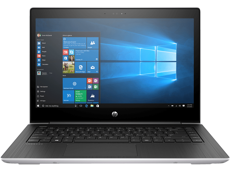 HP ProBook 440 G5, Notebook mit 14 Zoll Display, Core™ i5 Prozessor, 8 GB RAM, 256 GB SSD, GeForce 930MX, Silber