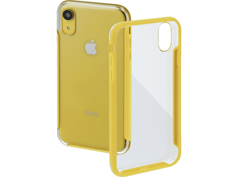 HAMA Frame , Backcover, Apple, iPhone XR, Polycarbonat/Thermoplastisches Polyurethan, Transparent/Gelb