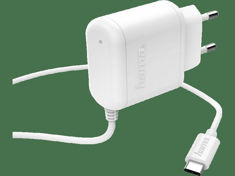 HAMA USB Typ-C Ladegerät, Weiß