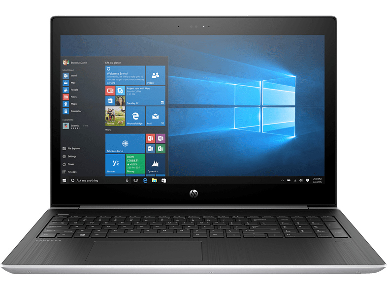HP ProBook 450 G5, Notebook mit 15.6 Zoll Display, Core™ i7 Prozessor, 16 GB RAM, 1 TB HDD, 512 GB SSD, NVIDIA GeForce 930MX, Silber