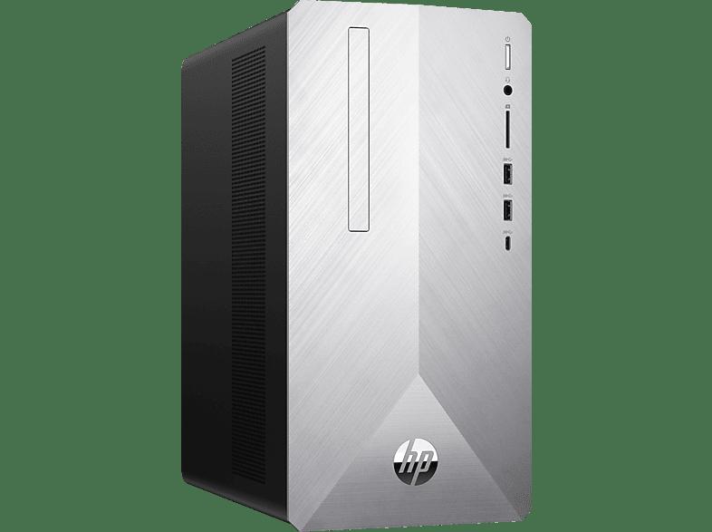 HP PAVILION 595-P0002NG, Desktop PC mit Core™ i5 Prozessor, 8 GB RAM, 256 GB SSD, 1 TB HDD, GeForce® GTX 1050 Ti, 4 GB