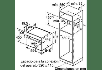 Horno - Balay 3CB5351A0, Compacto, Multifunción, 47 L, Integrable, 7 funciones, Gris