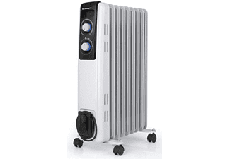 Radiador - Orbegozo RF 2000, 9 elementos, 2000 W, Termostato regulable, Blanco