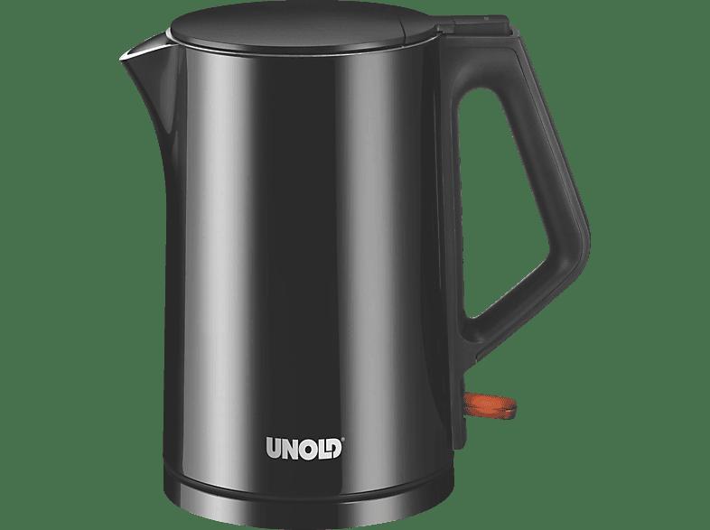 UNOLD 18525 Design Black Wasserkocher, Schwarz hochglänzend/Schwarz matt