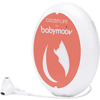 BABYMOOV A062201 Connect & Cocoon Life Babydoppler Weiß/Pink