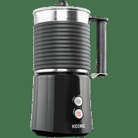 KOENIC KMF 5212 Milchaufschäumer, Edelstahl/Schwarz, 650 Watt, 0.4 l