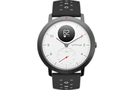 WITHINGS Steel HR Sport Hybrid Smartwatch Silikon, 230 mm, Weiß/Schwarz