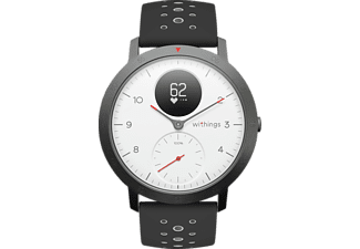WITHINGS Steel HR Sport, Hybrid Smartwatch, Silikon, 230 mm, Weiß/Schwarz