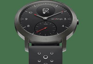 WITHINGS Steel HR Sport Hybrid Smartwatch Silikon, 230 mm, Schwarz