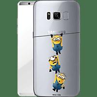 FINOO Minions hängen , Backcover, Samsung, Galaxy S8, Kunststoff, Mehrfarbig