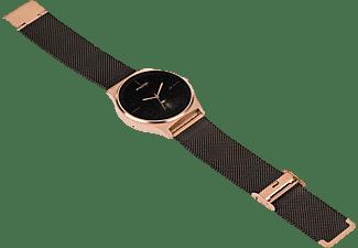 X-WATCH X-WATCH JOLI XW PRO (54030) Smartwatch / Fitnesstracker je nach Profil Metall, 265 mm, Gehäuse: Roségold/Armband: Diamantschwarz