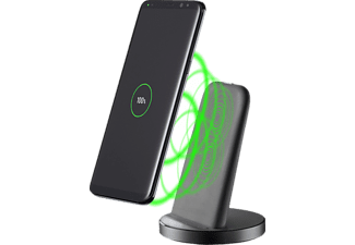 CELLULAR LINE Wireless Fast Charger Stand - Caricabatterie wireless (Nero)