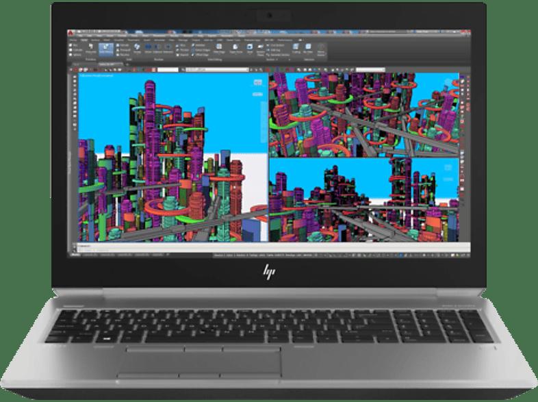 HP ZBook 15 G5, Notebook mit 15.6 Zoll Display, Core™ i7 Prozessor, 16 GB RAM, 512 GB SSD, Quadro® P2000, Silber