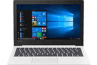 LENOVO IdeaPad S130, Notebook mit 11.6 Zoll Display, Celeron® Prozessor, 4 GB RAM, 64 GB eMMC, Intel® UHD-Grafik 600, Blizzard White