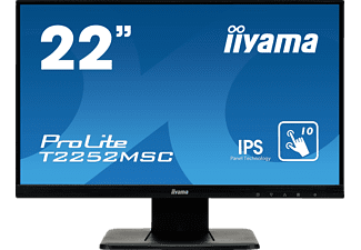 IIYAMA ProLite T2252MSC-B1 22 Zoll Full-HD Touchmonitor (7 ms Reaktionszeit, 76 Hz)